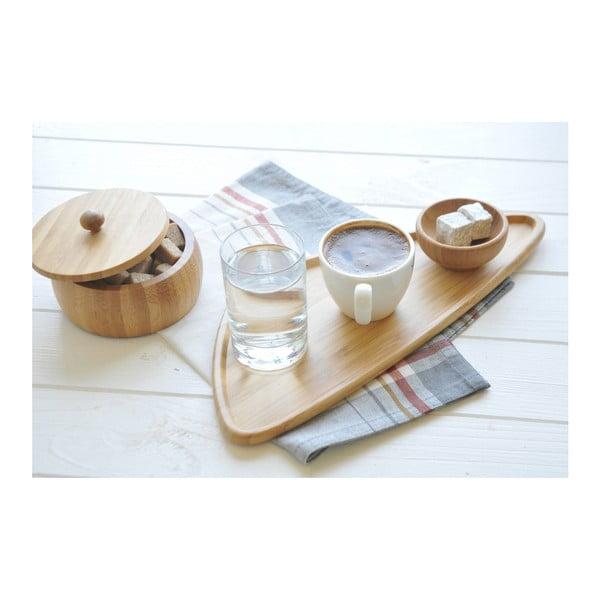 Bambusový servírovací talíř Bambum Viego Triangle L