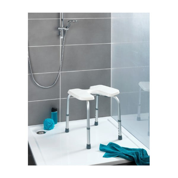 Stolička do sprchy Wenko Hygienic Stool White, 53 x 46 cm