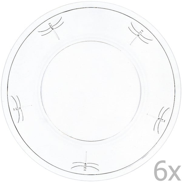 Set 6 farfurii Libellules, 32 cm