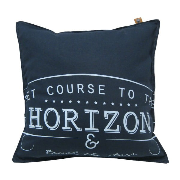 Tmavě modrý polštář OVERSEAS Horizon,45x45cm