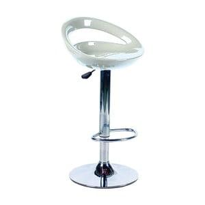 Bílá kovová barová stolička Valdomo Sally