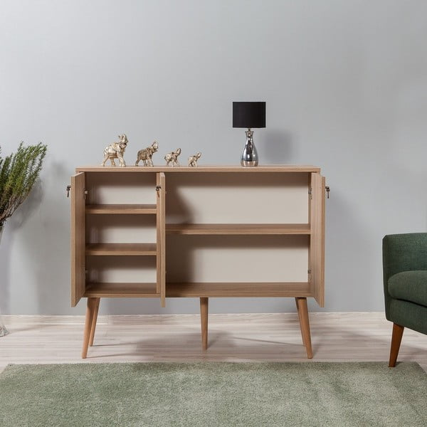 Dřevěná komoda Iousta Stripes