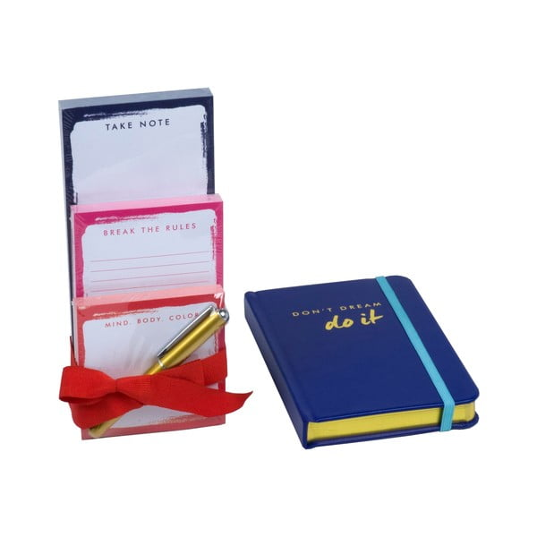 Sada zápisníku a bločků s propiskou Do It