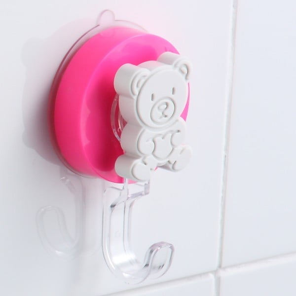 Růžový háček bez nutnosti vrtání ZOSO Bear