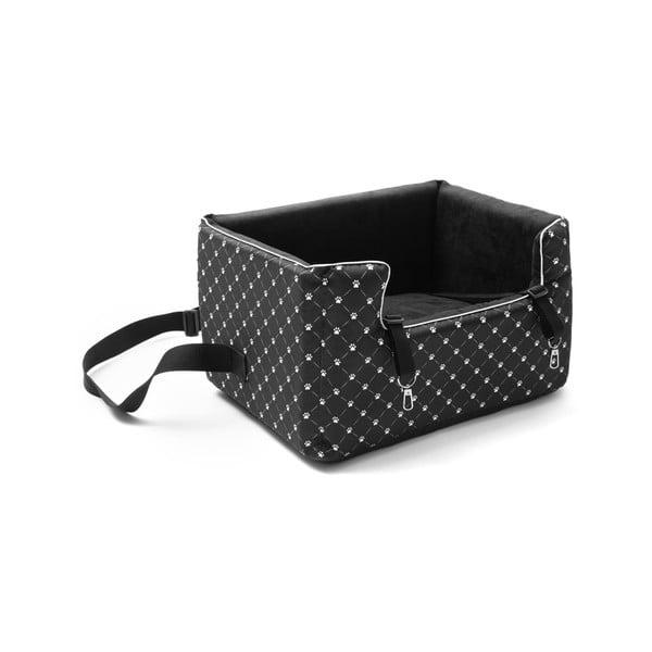 Černá přepravní taška pro psa do auta Marendog Paws, 40 x 47 x 25 cm
