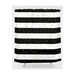 Černobílý pruhovaný závěs do sprchy Maiko Luxury, 180 x 180 cm