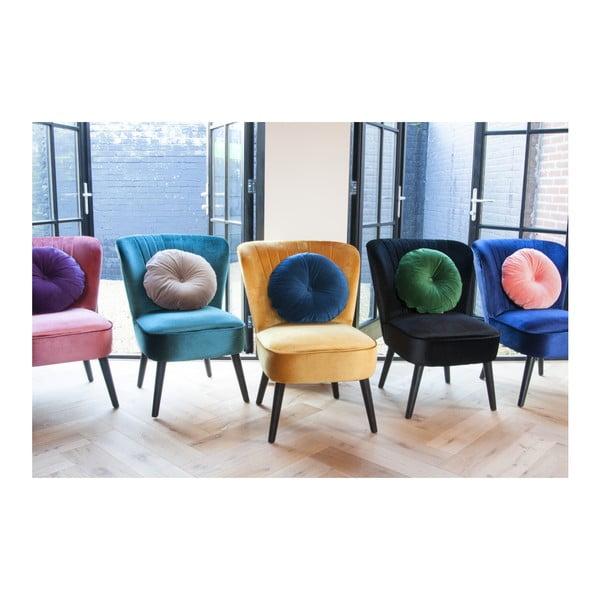 Žlutá židle se sametovým potahem Leitmotiv Luxury