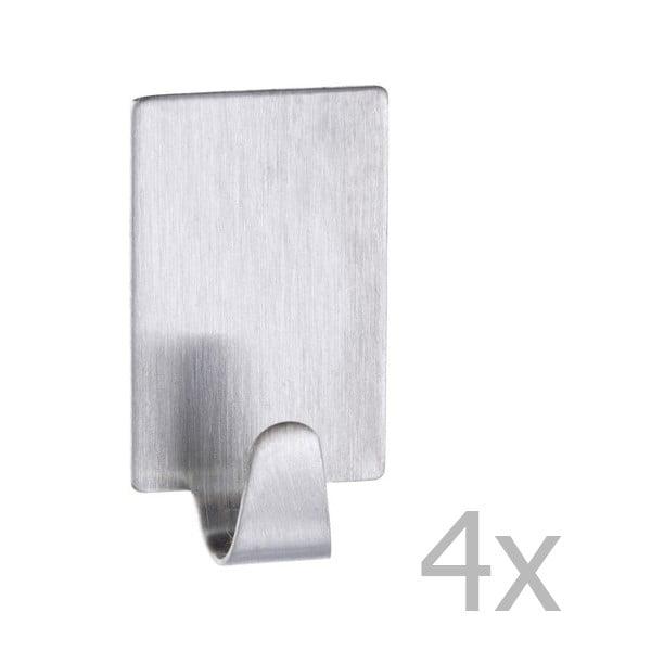 Set 4 cârlige din oțel inoxidabil Wenko Hooks
