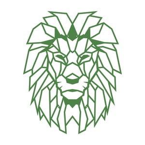 Zelená kovová nástěnná dekorace Wall Decor Lion