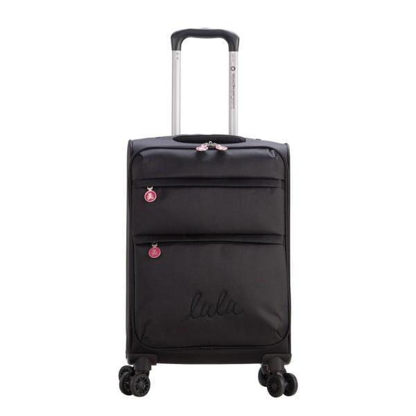 Czarna walizka z 4 kółkami Lulucastagnette Luciana, 71 l