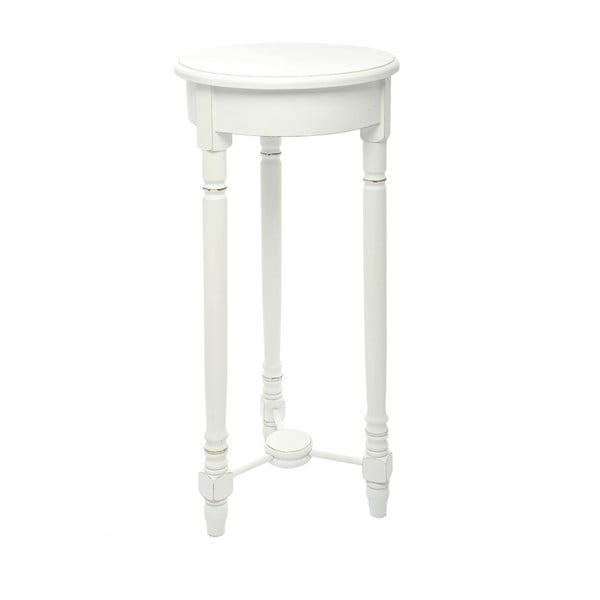 Dřevěný stolek Paulownia White, 80x35 cm