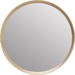 Zrcadlo s rámem z masivního dubového dřeva Kare Design Montreal, ø 80 cm