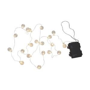 Bílý venkovní světelný LED řetěz s motivem žárovek BestSeason Bulb, 20světýlek