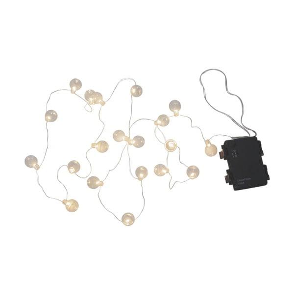 Șirag luminos LED pentru exterior Best Season Bulb, 20 becuri, alb