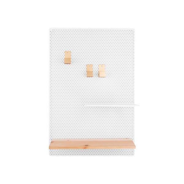 Biała tablica metalowa PT LIVING Perky, 34,5x52,5 cm