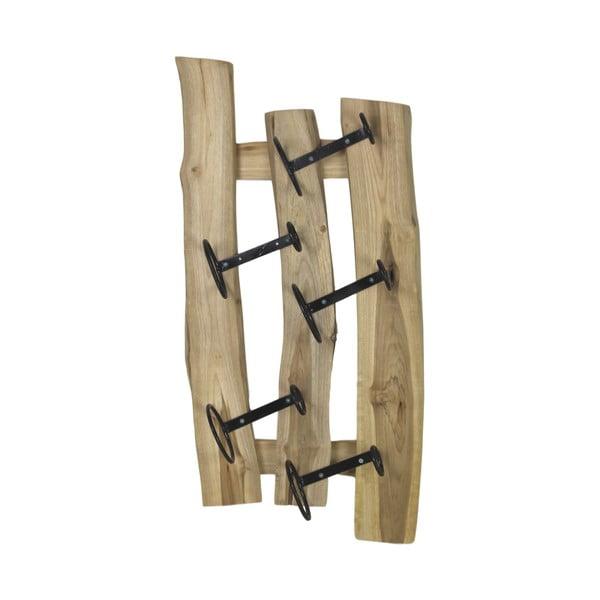 Nástěnný držák z teakového dřeva na vinné lahve HSM collection