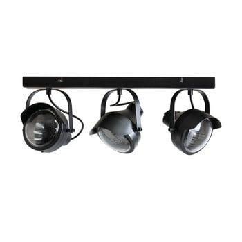 Plafonieră metalică cu 3 surse de iluminat WOOOD Lester, negru imagine
