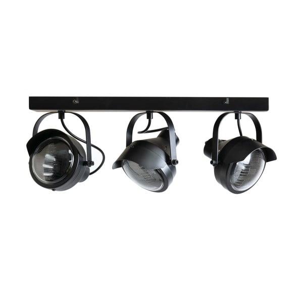 Plafonieră metalică cu 3 surse de iluminat WOOOD Lester, negru