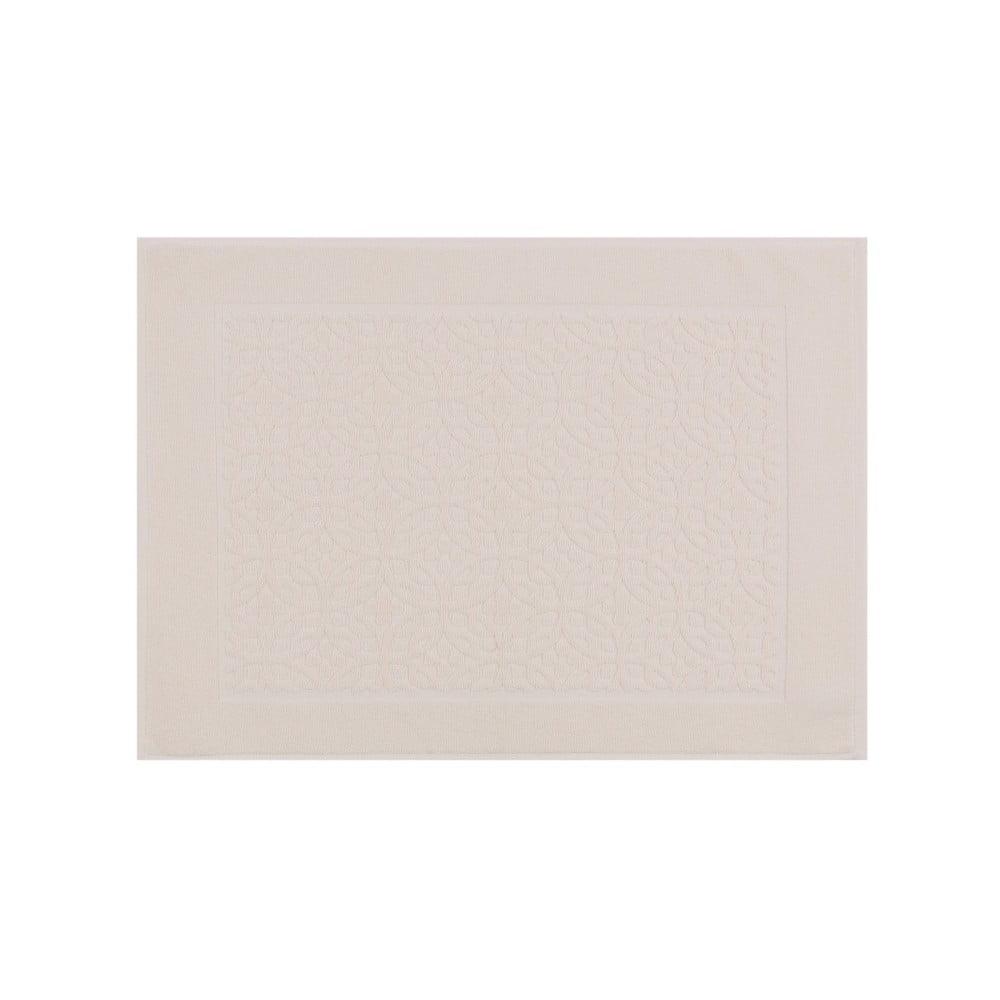 Světle béžová bavlněná koupelnová předložka Rassido Cindy, 50 x 70 cm