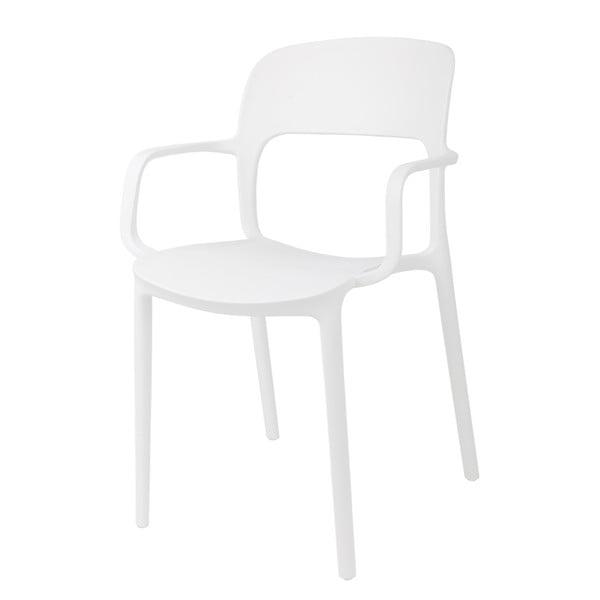 Sada 2 bílých židlí s opěrkami D2 Flexi