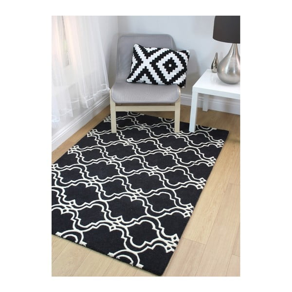 Koberec Flair Rugs Casablanca Charcoal, 120 x 170 cm