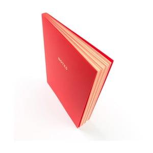 Červený zápisník A5 GO Stationery Colourblock