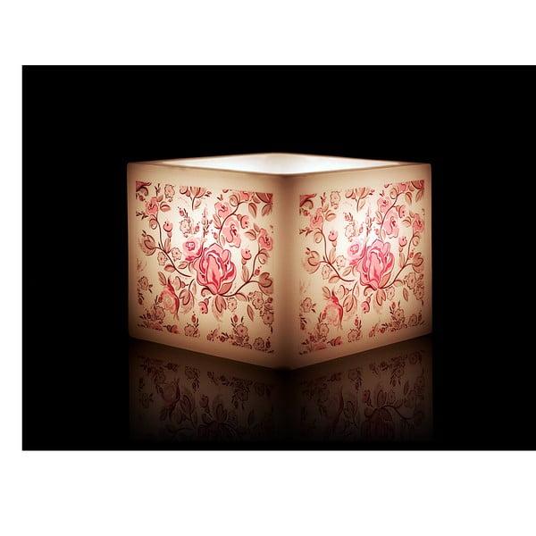 Svícen na čajovou svíčku Pink Rose