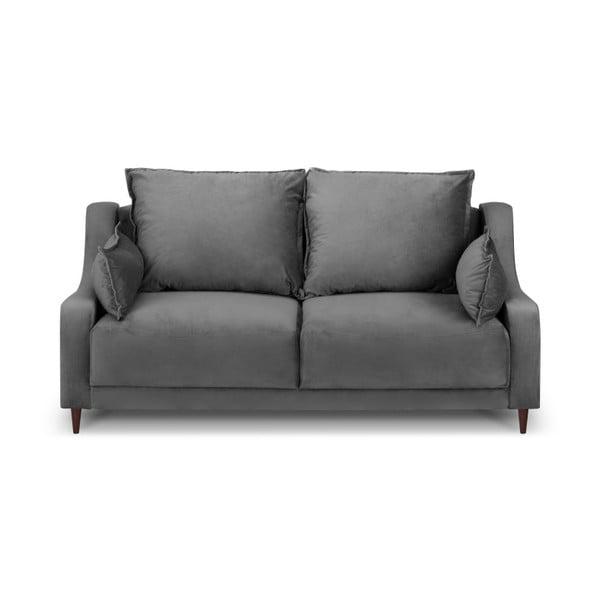Šedá sametová pohovka Mazzini Sofas Freesia, 150 cm