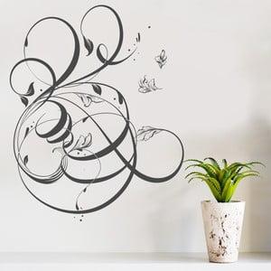Samolepka na stěnu Floral, 60x90 cm