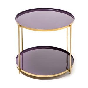 Fialový odkládací stolek 360 Living Romy 622, ⌀ 50 cm