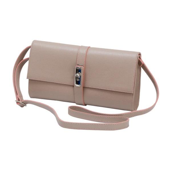 Starorůžová kožená kabelka Andrea Cardone 1040