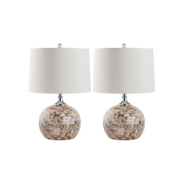 Sada 2 stolních lamp Safavieh Branco