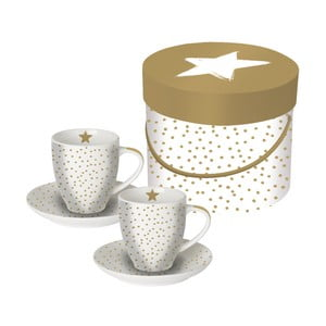 Sada 2 porcelánových hrnků na espresso PPD Star Money, 100ml