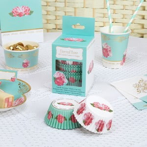 Sada 100 papírových košíčků na cupcaky Neviti Eternal Rose