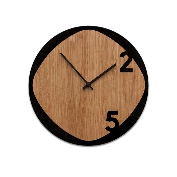 Hodiny Clock25 Wood&Black