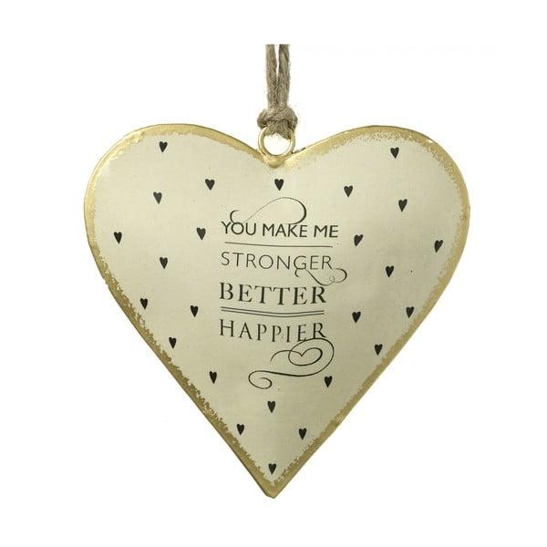 Ozdobné závěsné srdce Happier