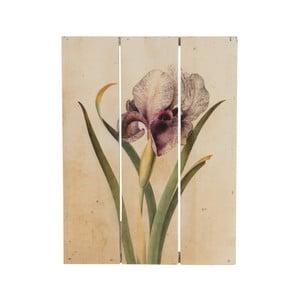 Dřevěný obraz Dijk Natural Collections Orchid, 19x25 cm