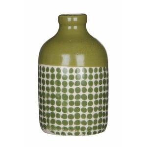 Zelená keramická váza Mica Fabio, 145x8,5cm