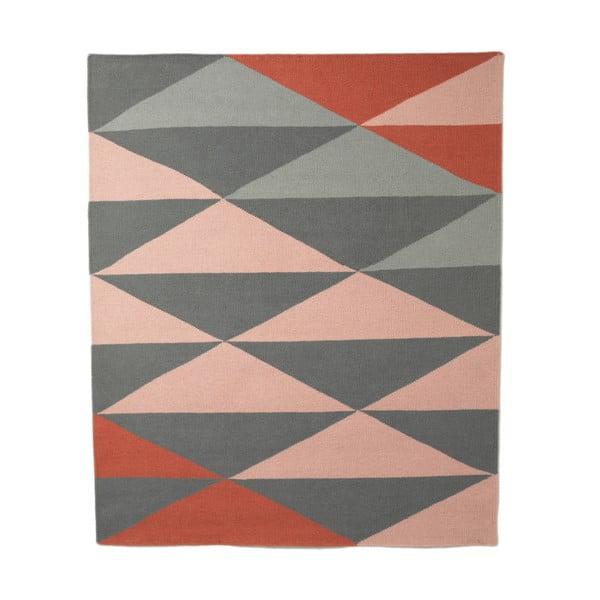 Vlněný koberec triangle 120x150 cm, růžový
