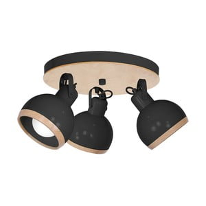 Černé stropní svítidlo Oval Trio