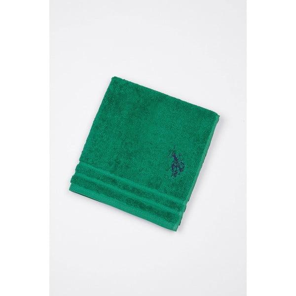 Zelená koupelnová předložka U.S. Polo Assn., 60x90cm