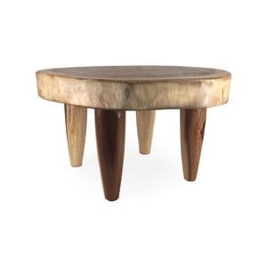 Příruční stolek ze dřeva Suar Moycor Trunk, výška 40 cm