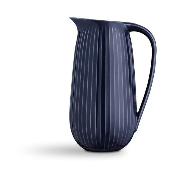 Tmavě modrý porcelánový džbán Kähler Design Hammershoi, 1,25 l