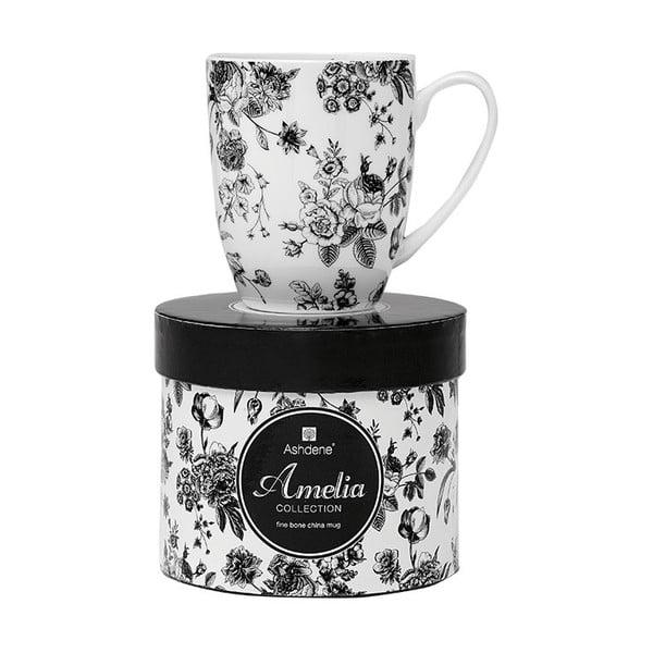 Hrnek z kostního porcelánu Ashdene Amelia Rose Floral, 350ml