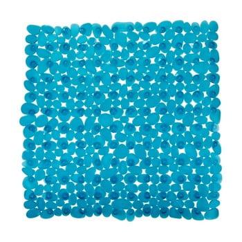 Covor baie anti-alunecare Wenko Drop, 54x54cm, albastru petrol imagine
