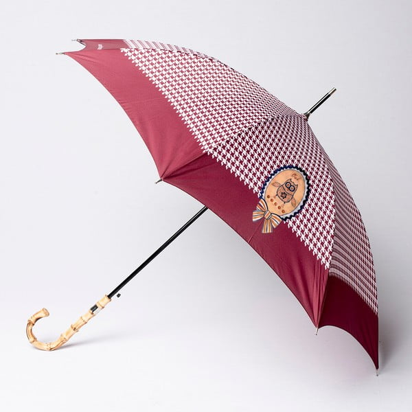 Deštník Alvarez Houndstooth Burgundy Illustration