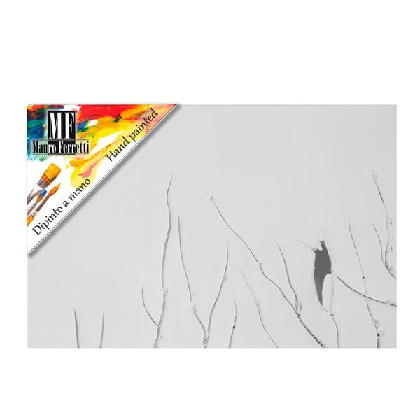 Ručně malovaný nástěnný obraz Mauro Ferretti Dipinto Su Tela Winter Tree, 50 x 150 cm