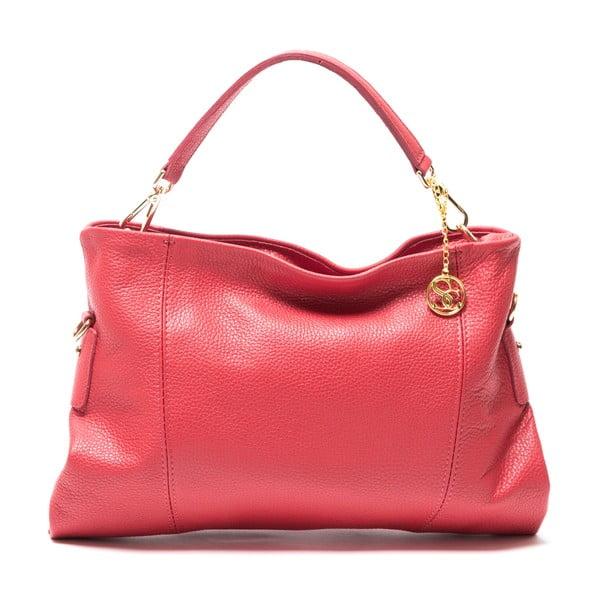 Kožená kabelka Caprice, červená