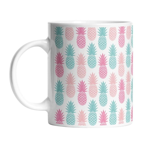 Keramický hrnek Pastel Pineapples, 330 ml