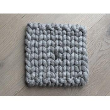 Suport țesut din lână pentru pahar/veselă Wooldot Braider Coaster, 20 x 20 cm, maro nisip